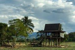 Vecchia capanna sulla montagna Fotografie Stock