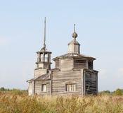 Vecchia cappella di legno abbandonata Fotografia Stock Libera da Diritti
