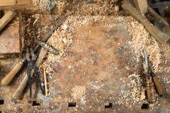 Vecchia carpenteria Fotografia Stock Libera da Diritti