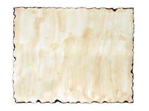 Vecchia carta bruciata Fotografia Stock Libera da Diritti