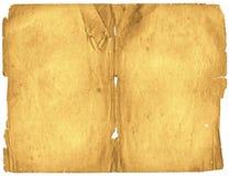 Vecchia carta chiazzata di lerciume Immagini Stock
