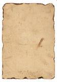 Vecchia carta con i bordi bruciati Immagini Stock Libere da Diritti