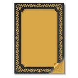 Vecchia carta con l'ornamento orientale Fotografia Stock