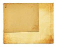 Vecchia carta d'annata con le strutture di lerciume Fotografie Stock