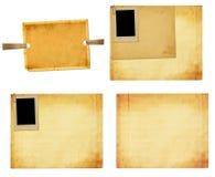 Vecchia carta d'annata con le strutture di lerciume per le foto Fotografia Stock Libera da Diritti