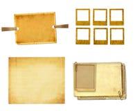 Vecchia carta d'annata con le strutture di lerciume per le foto Fotografia Stock