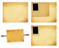 Vecchia carta d'annata con le strutture di lerciume per le foto Immagini Stock