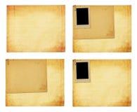 Vecchia carta d'annata con le strutture di lerciume per le foto Immagine Stock Libera da Diritti