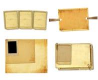 Vecchia carta d'annata con le strutture di lerciume per le foto Immagine Stock