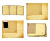 Vecchia carta d'annata con le strutture di lerciume per le foto Immagini Stock Libere da Diritti