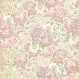 Vecchia carta da parati floreale sbiadita Immagini Stock