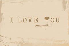 Vecchia carta di amore Immagini Stock Libere da Diritti