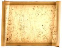 Vecchia carta di carta, carta dell'oro per la scrittura, o fondo, illustrazione, rotolo Fotografie Stock