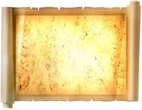 Vecchia carta di carta, carta dell'oro per la scrittura, o fondo, illustrazione, rotolo Immagine Stock