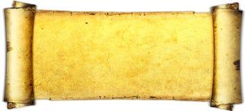 Vecchia carta di carta, carta dell'oro per la scrittura, o fondo, illustrazione, rotolo Immagini Stock Libere da Diritti
