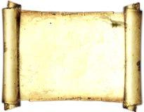 Vecchia carta di carta, carta dell'oro per la scrittura, o fondo, illustrazione, rotolo Fotografia Stock Libera da Diritti