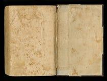 Vecchia carta di lerciume per la mappa o l'annata del tesoro Documento sbavato di inchiostro scuro spiegato del libro fotografia stock libera da diritti
