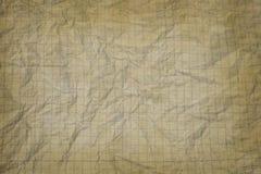 Vecchia carta millimetrata bianca sgualcita Immagini Stock