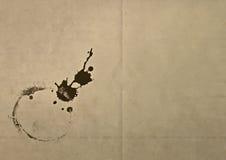 Vecchia carta sporca con la macchia di lerciume Fotografia Stock Libera da Diritti