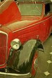 Vecchia cartolina con un'vecchia automobile 3 Immagine Stock Libera da Diritti