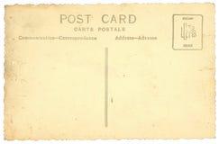 Vecchia cartolina dell'annata isolata su bianco Fotografia Stock Libera da Diritti