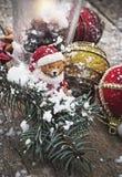 Vecchia cartolina di Natale Fotografia Stock