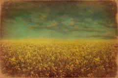 Vecchia cartolina di paesaggio immagine stock libera da diritti