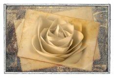Vecchia cartolina di rosa Immagini Stock
