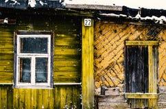 Vecchia casa abbandonata nel villaggio Immagini Stock Libere da Diritti