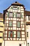 Vecchia casa in affitto, Strasburgo, Francia Fotografia Stock Libera da Diritti