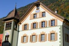 Vecchia casa a Altdorf nel Cantone di Uri, Svizzera Fotografie Stock Libere da Diritti