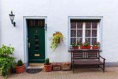 Vecchia casa in Bedburg alt-Kaster, Germania Fotografie Stock Libere da Diritti