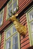 Vecchia casa a Bergen Immagini Stock Libere da Diritti