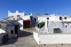 Vecchia casa Branca (la Casa Bianca) del paesino di pescatori di berbero Fotografie Stock Libere da Diritti