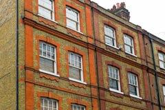 Vecchia casa bricked Fotografie Stock Libere da Diritti