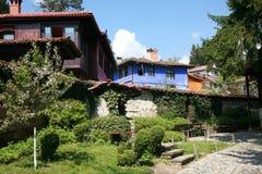 Vecchia casa bulgara autentica Fotografia Stock Libera da Diritti