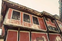 Vecchia casa bulgara tradizionale immagini stock libere da diritti