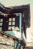 Vecchia casa bulgara tradizionale immagine stock