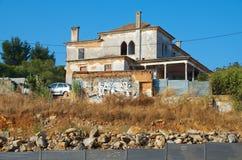 Vecchia casa in Cascais Fotografia Stock Libera da Diritti