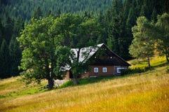Vecchia casa ceca tradizionale Immagine Stock Libera da Diritti
