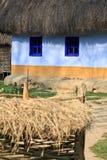 Vecchia casa colourful, museo del villaggio Immagine Stock