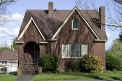 Vecchia casa con mattoni a vista americana Fotografia Stock