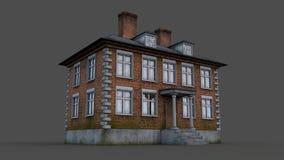 Vecchia casa con mattoni a vista rossa inglese Fotografia Stock Libera da Diritti
