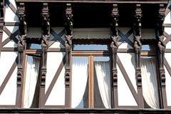 Vecchia casa con sei diavoli Immagine Stock Libera da Diritti