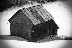 Vecchia casa dalla Romania Fotografie Stock