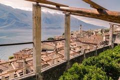 Vecchia casa del limone in polizia del sul di Limone, Italia Fotografie Stock Libere da Diritti
