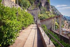 Vecchia casa del limone in polizia del sul di Limone, Italia Fotografie Stock