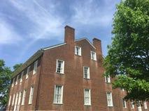 Vecchia casa del mattone rosso Fotografia Stock Libera da Diritti