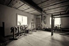 Vecchia casa del villaggio in Polonia Fotografie Stock