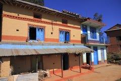 Vecchia casa dell'agricoltore nel Nepal Immagini Stock